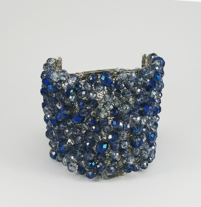 Bracciale con Perline in Blu
