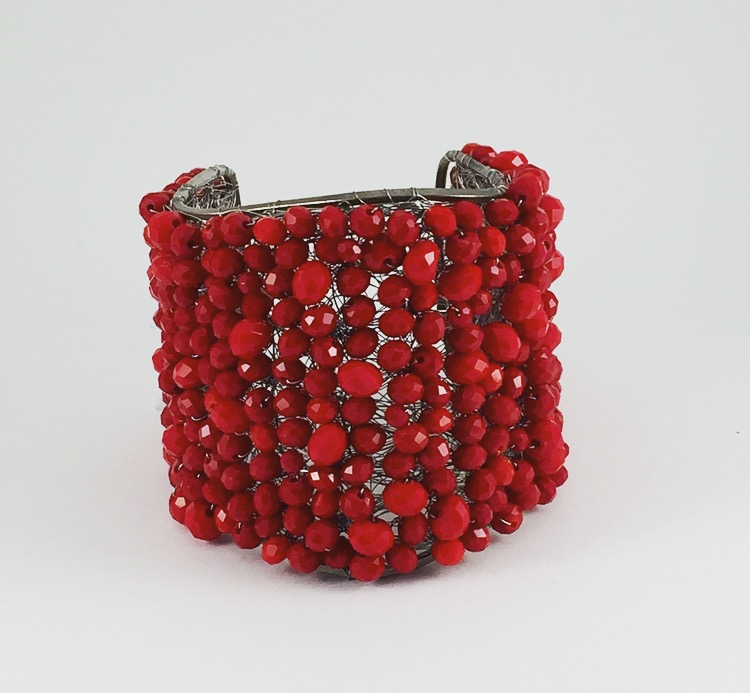 Bracciale con Perline in Corallo