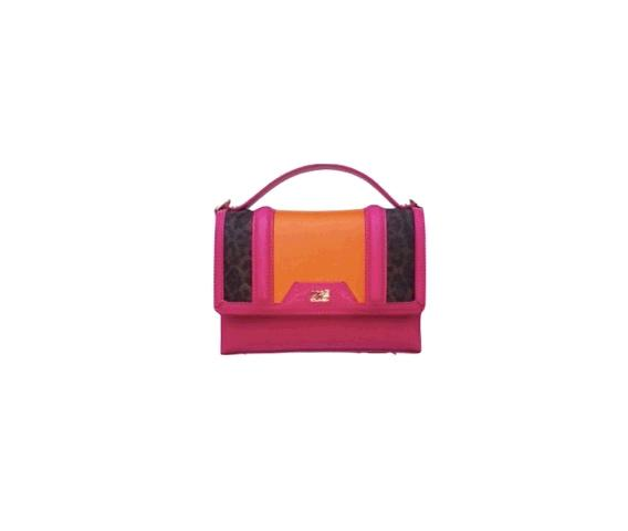 Claudia Bag Signature Collection Orange/fuxia