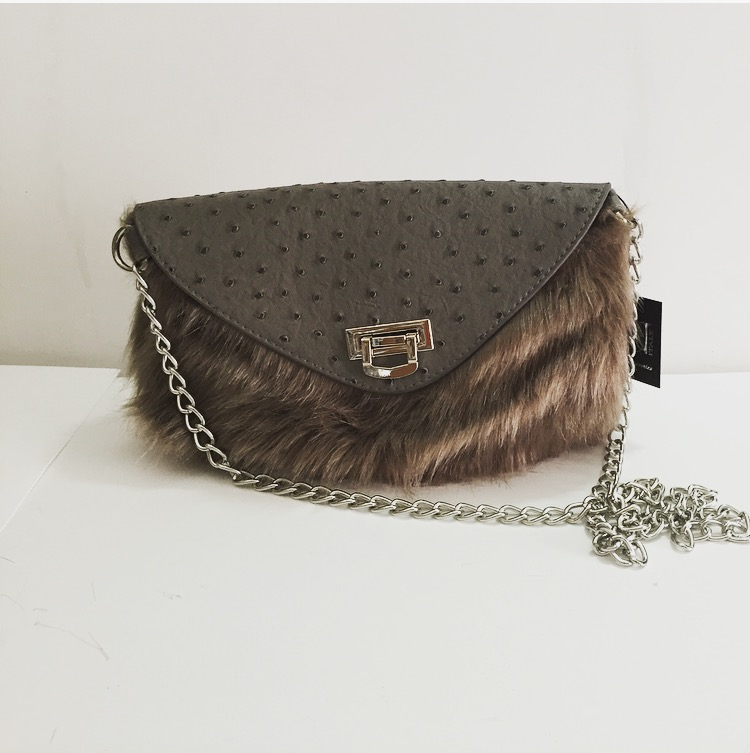 Bag with Fur - Grey