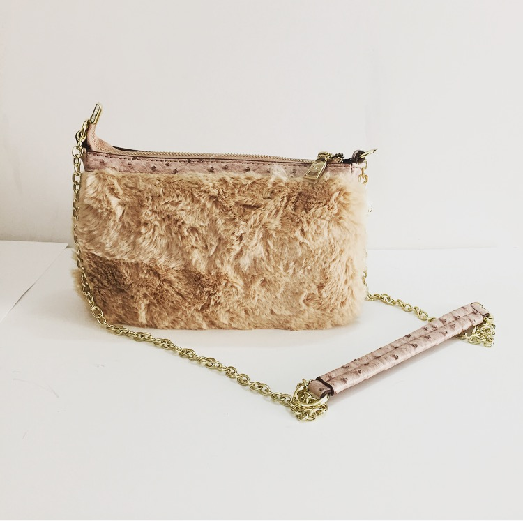 Sophie Bag with Fur - Beige