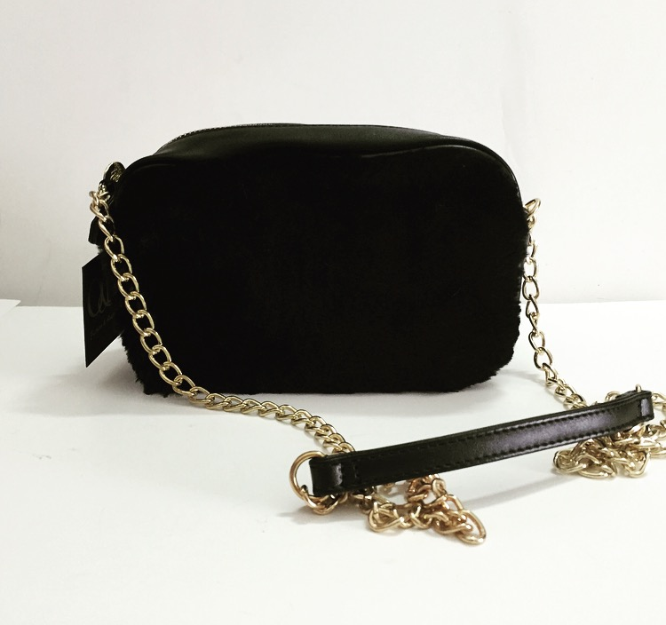 Nina Bag with Fur - Black